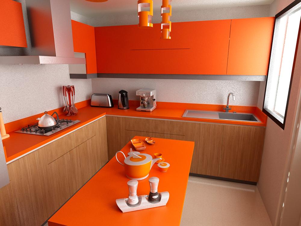 Colores clidos para tu cocina  Cocimobel