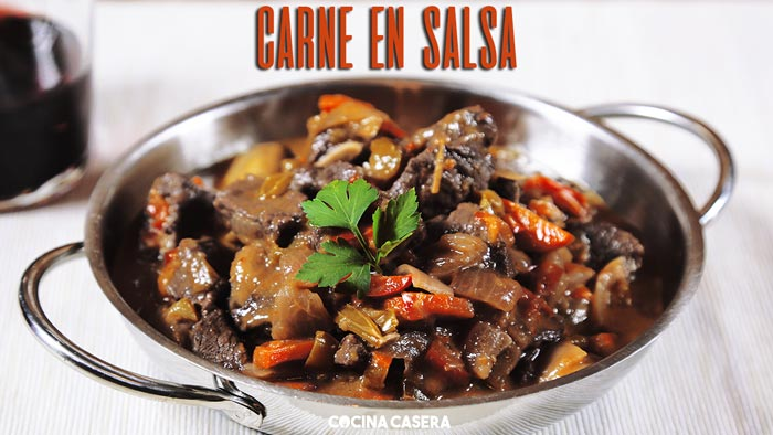 Carne en Salsa Guisada  Recetas de Cocina Casera fciles