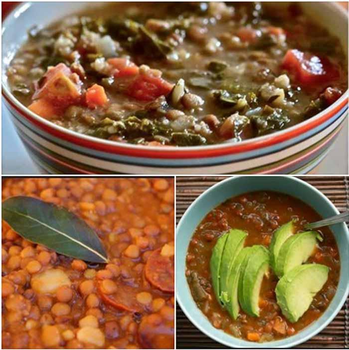 Lentejas con chorizo verdura y carne Receta tradicional
