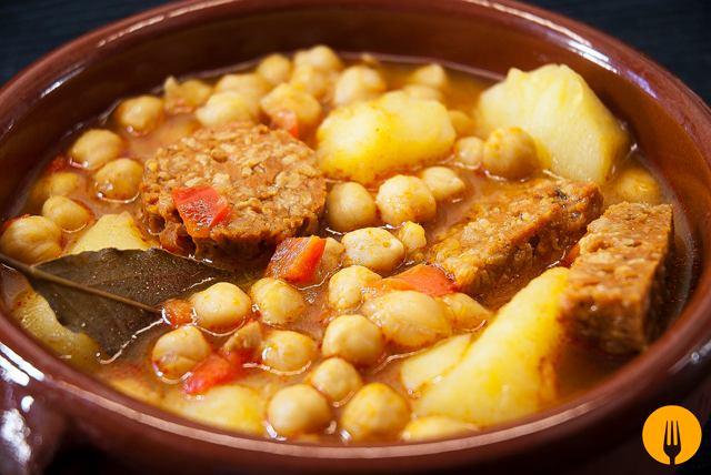 Garbanzos con chorizo  Recetas de Cocina Casera fciles y