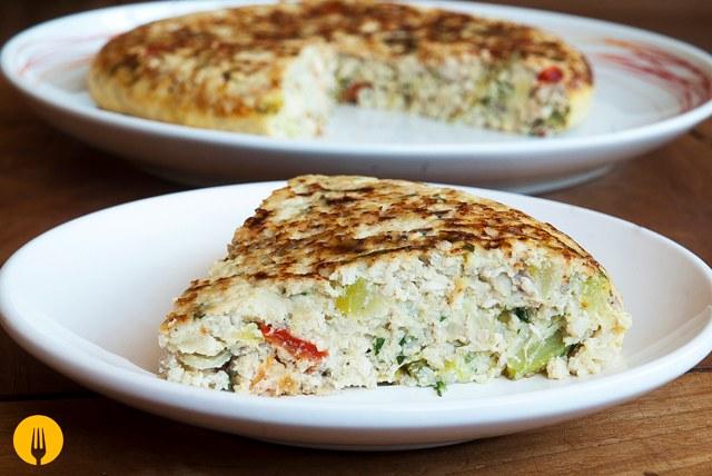 Tortilla de Pollo y Verduras  Recetas de Cocina Casera fciles y sencillas  Cocina Casera