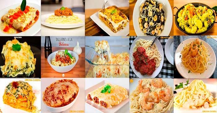 Recetas de Pasta fciles  COCINACASERACOM