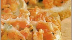 Bruschetas de tomate con parmesano