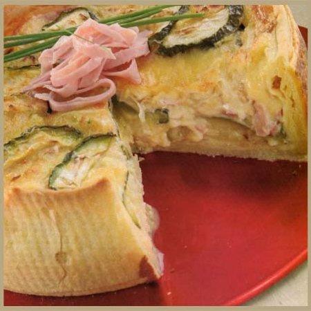 tarta de zapallitos con jamon y queso