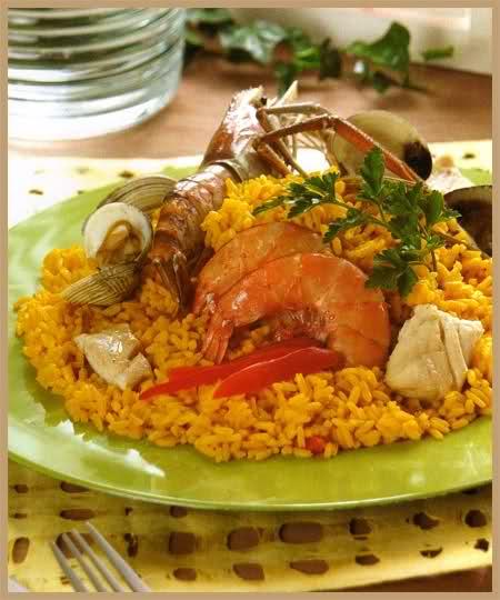 arroz a la mexicana con mariscos