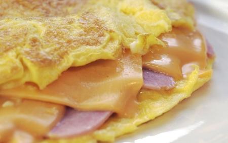 Omelette de jamn y queso  CocinaChic