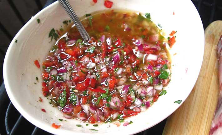 Salsa Criolla  Recetas de Cocina Caseras  CocinaChic