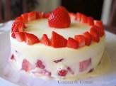 Pastel de fresas y nata