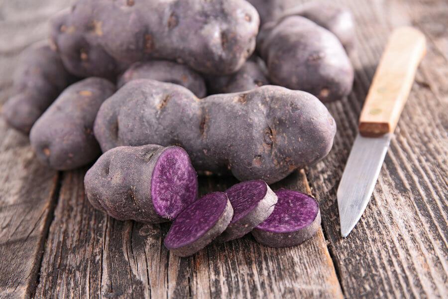 Patatas moradas