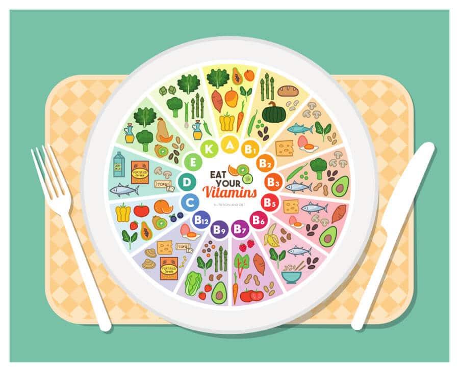 alimentos vitaminas comida real
