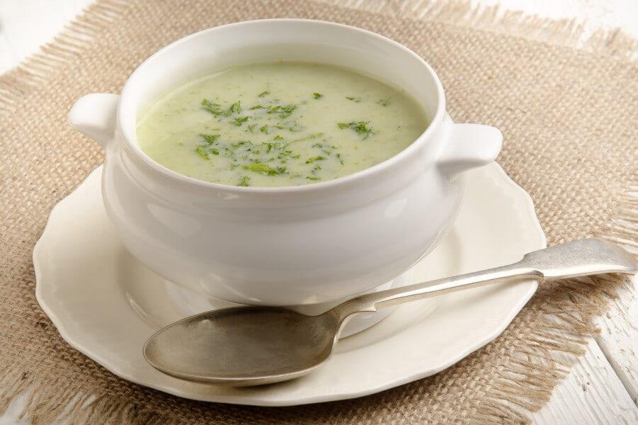 crema de brocoli y coliflor