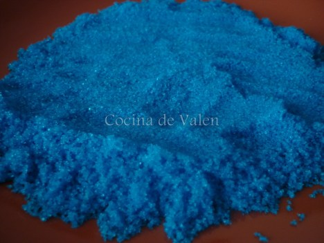 Azúcar de color azul