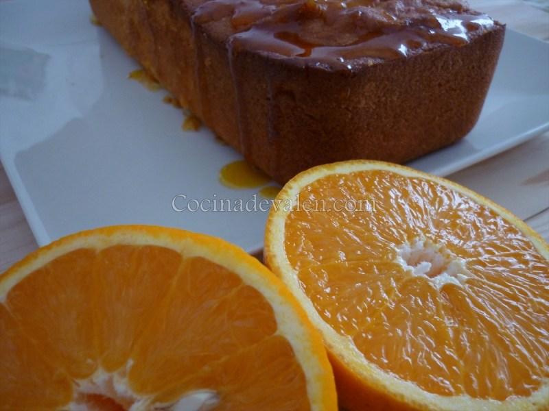 Bizcocho de naranja con glaseado de naranja - Cocina de Valen