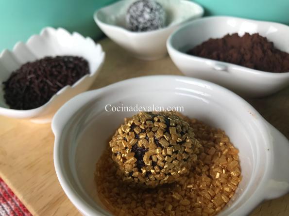 Trufas de Chocolate - Cocina de Valen
