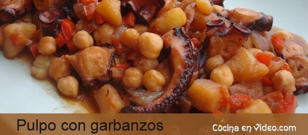 Pulpo con garbanzos