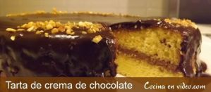 Tarta crema de chocolate