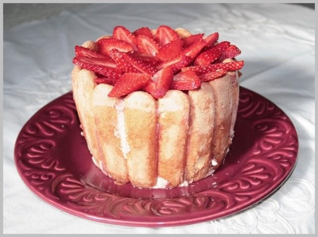 Charlotte aux fraises, charlota de fresas