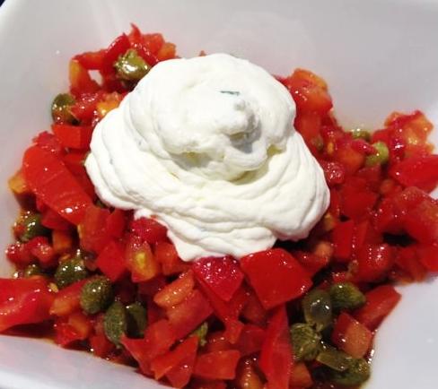 Concassé de tomates, mascarpone