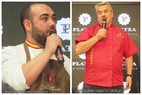 El laureado Alejandro Montes de Mamá Framboise y Luis Pacheco de Gold Gourmet