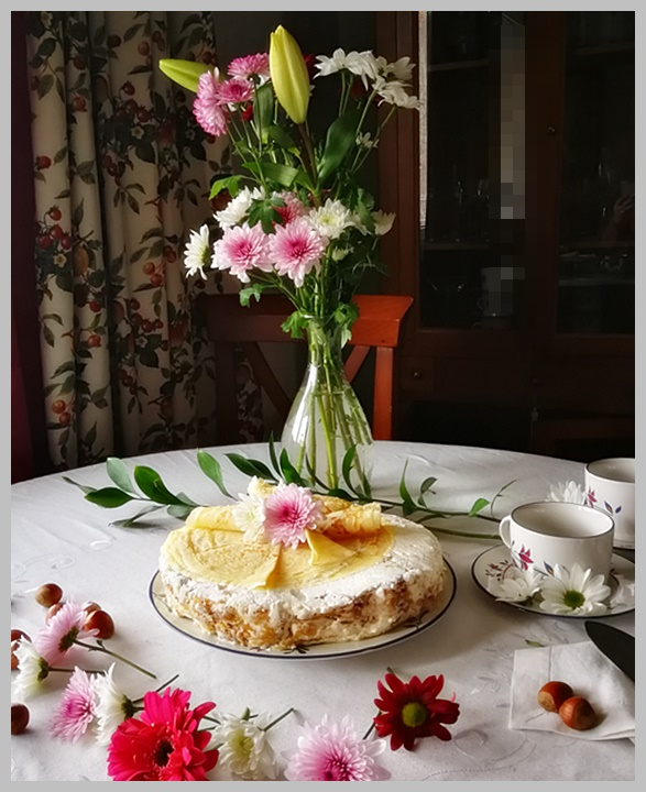 Tarta de crepes. Gâteau de Crêpes