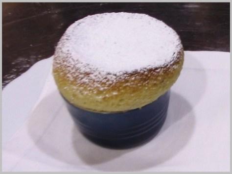 Suflé de vainilla, restaurante Le Bistroman