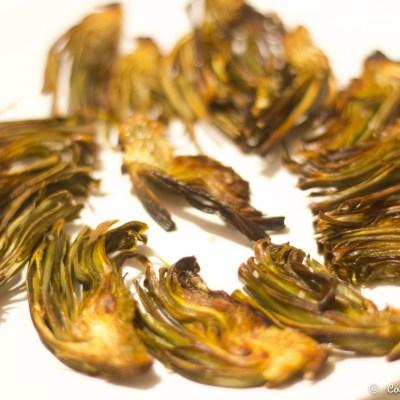 Crujiente de alcachofas