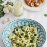 Cómo hacer Patatas con alioli de leche y Flarrosquín de Andújar