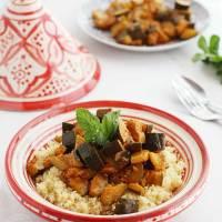 Calabacines al estilo marroquí con cous cous
