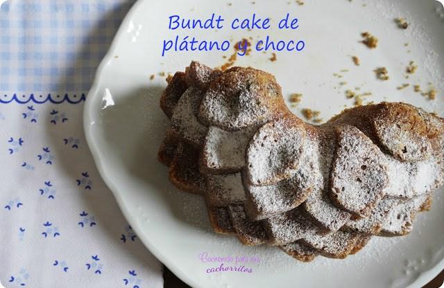 Bundt cake de plátano y choco