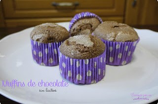 muffins de chocolate sin lactosa