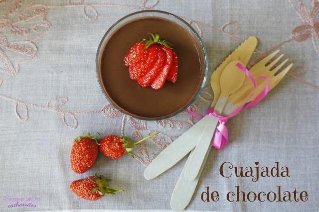 Cuajada ligera de chocolate