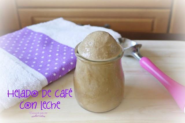 Helado de café con leche