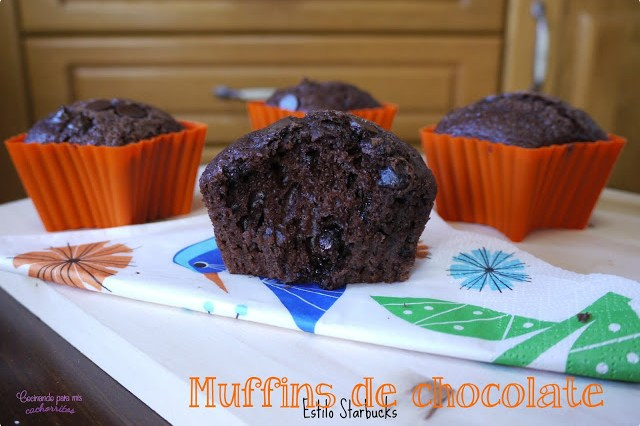 Muffins de chocolate de Starbucks