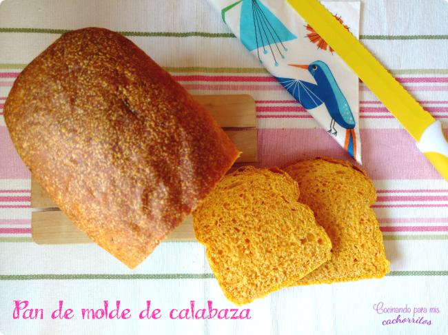 pan de molde de calabaza