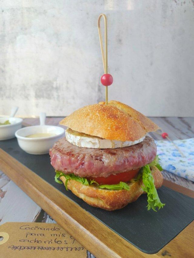 hamburguesa de ternera wagyu