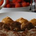 salsa de madroño con solomillo y setas