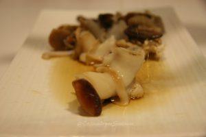 vinagre de jerez con caracoles de la mar
