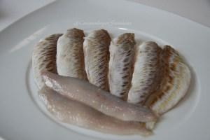 Filete de pez araña o pez escorpión