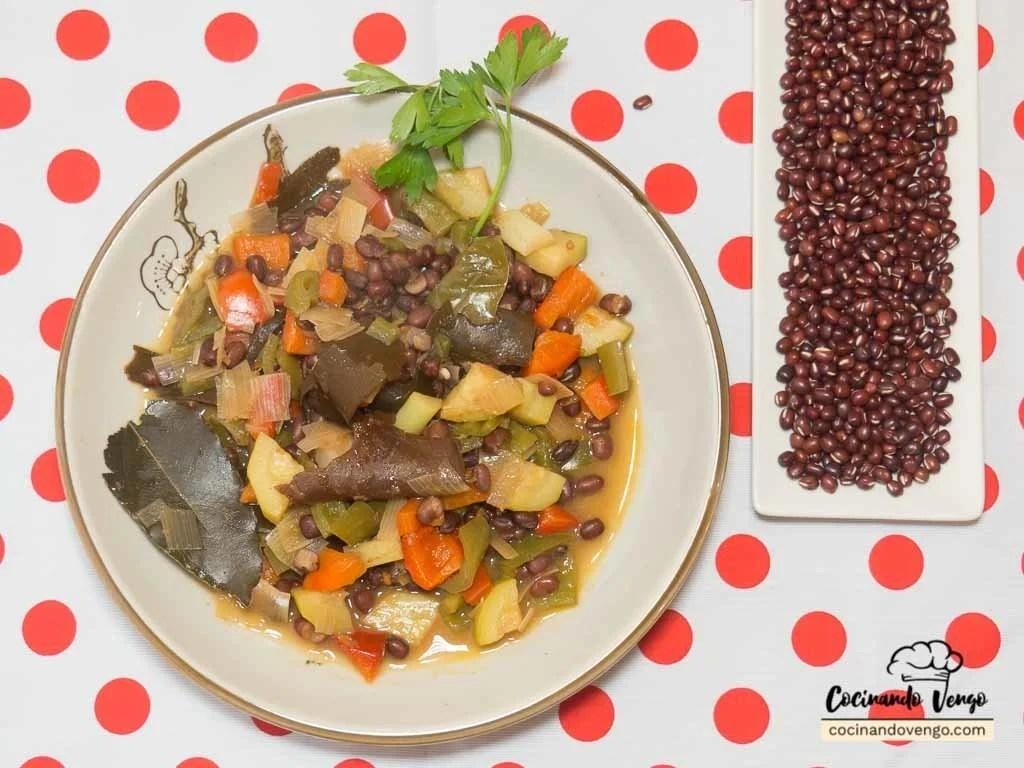 Azukis con verduras