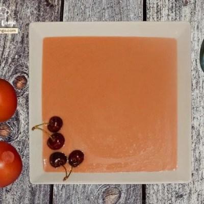 Gazpacho de cereza.