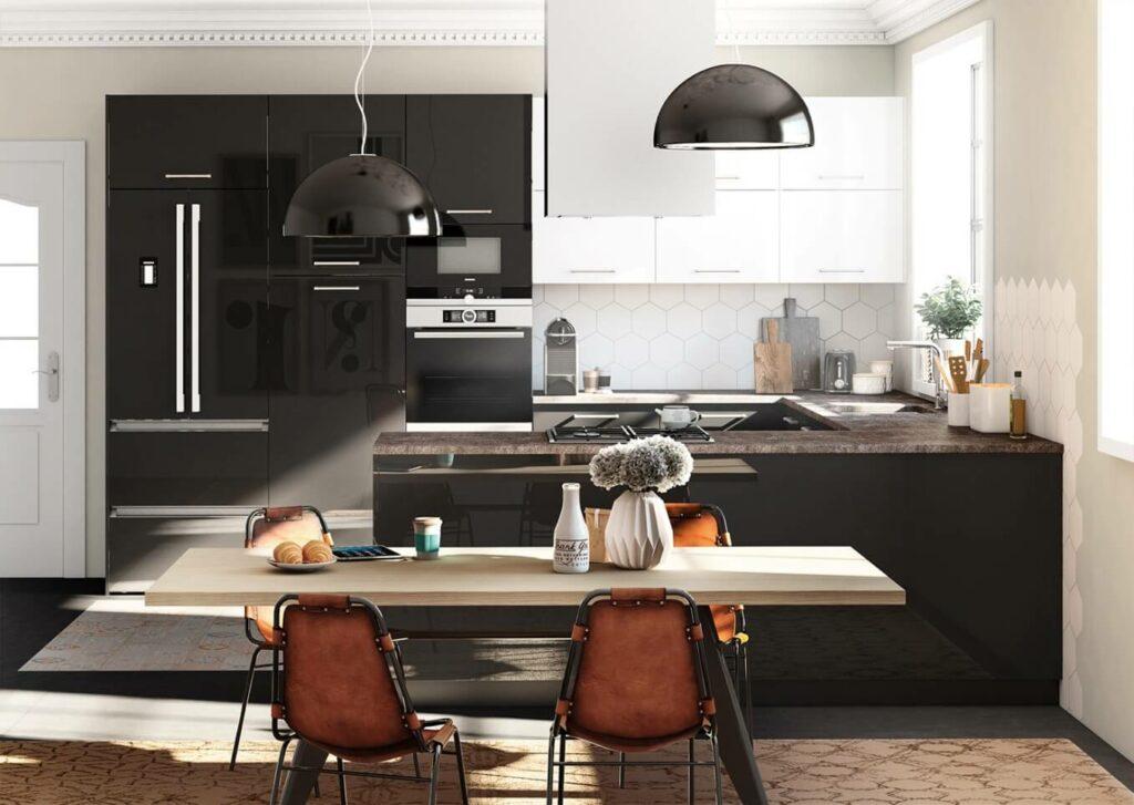 TPC Cocinas  Cocina negra cocina con carcter