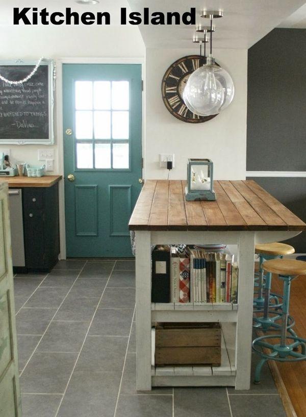 Cocinas con islas a partir de muebles reciclados  cocinas