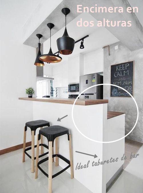 Barras de cocina qu altura es la correcta  cocinas con encanto
