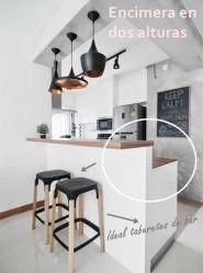 Barras de cocina: ¿qué altura es la correcta? cocinas