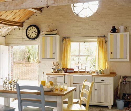 Cocinas rsticas mejor cortinas o estores  cocinas con