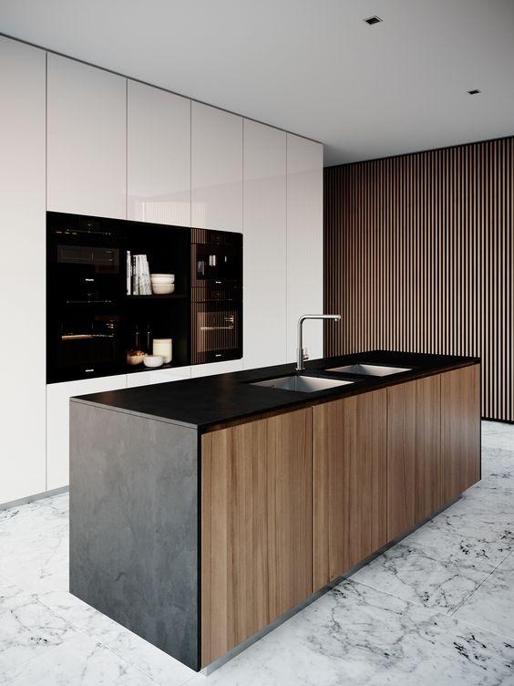 Muebles de Cocina diseos Modernos de Madera Colgantes