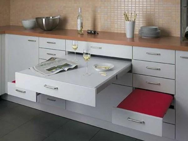 Mesas de cocina plegables pequeas rsticas modernas y ms