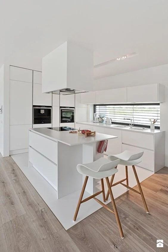 Cocinas minimalistas modernas pequeas y grandes estilos 2019