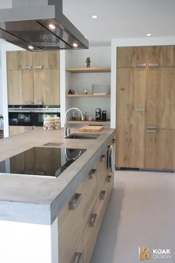 Cocinas de madera Diseos rsticos modernos y pequeas