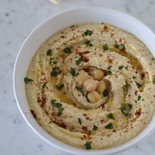 Hummus, crema árabe de puré de  garbanzos
